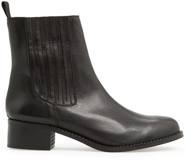 MANGO Outlet Leather Chelsea Ankle Boots