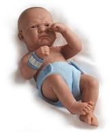 "Ani JC Toys La Newborn 14"" Anatomically Correct Boy Baby Doll - ""First Day"""