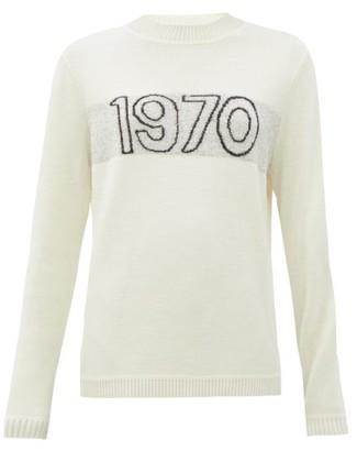 Bella Freud 1970 Merino Wool-blend Sweater - Ivory