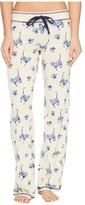 PJ Salvage Blue Batik Cat Lounge Pants Women's Casual Pants