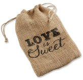 "Kate Aspen Love is Sweet"" Burlap Drawstring Favor Bag, Set of 12"