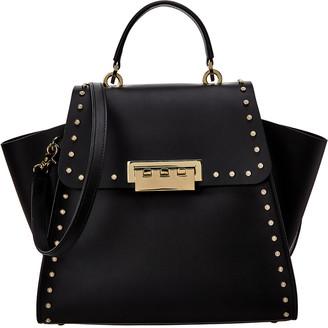 ZAC Zac Posen Eartha Top Handle Mini Pearls Leather Shoulder Bag