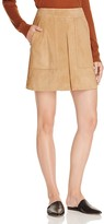 Vince Silk-Lined Suede Skirt