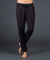 Zobha Black French Terry Wesley Jogger