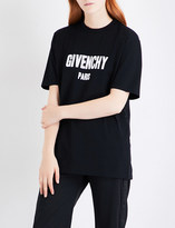 Givenchy Distressed logo-print cotton-jersey T-shirt
