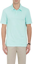 James Perse MEN'S JERSEY POLO SHIRT-LIGHT BLUE SIZE 0