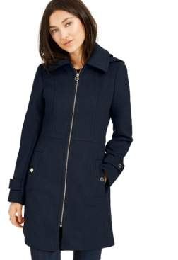 Michael Kors Michael Petite Hooded Stand-Collar Coat, Created For Macy's