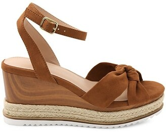 BCBGeneration Heela Wooden-Accent Wedge Sandals