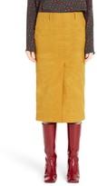 Marni Women's Waxed Cotton Pencil Skirt