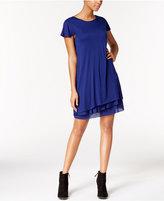 Kensie Heathered Tiered-Hem Dress