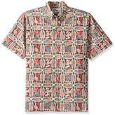 Reyn Spooner Men's Spooner Kloth Classic Fit Button Front Hawaiian Shirt Summer Commemorative