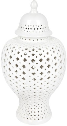 Cafe Lighting Minx Temple Jar White