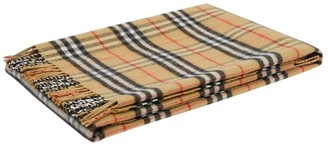 Burberry Kids Beige Archive Print Scarf
