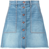 Current/Elliott The Naval denim mini skirt