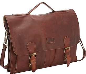 "Sharo Soft Leather Laptop Messenger Bag and Brief Extra Wide for 17"" Laptop"