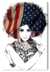 "Oliver Gal New American Woman Canvas Art - 45"" x 30"" x 1.5"""