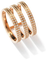 Repossi Berbè;re Three-Row Diamond Ring in 18K Rose Gold