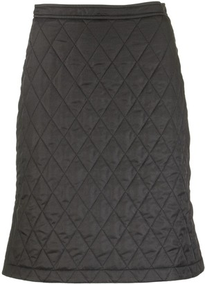 Burberry Gail Diamond Quilted A-line Skirt