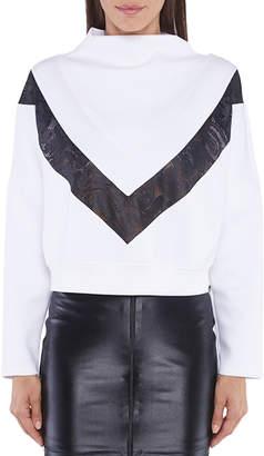Koral Sigmatic Scuba Sweatshirt w/ Contrast Lace Paneling