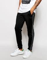 Adidas Originals Skinny Joggers With Side Stripes Ab7656 - Black