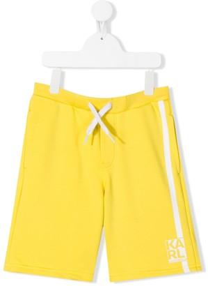 Karl Lagerfeld Paris Drawstring Side Stripe Detail Shorts