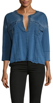 Free People Ration Denim Top