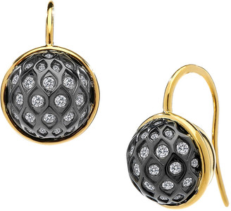 Syna Two-Tone Baubles Drop Earrings with Diamonds
