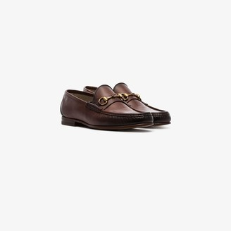 Gucci Brown 1953 Horsebit Leather Loafers