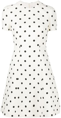 Valentino Polka-Dot Print Mini Dress