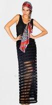 Black Sheer Stripe Maxi Dresses by Blue Juice