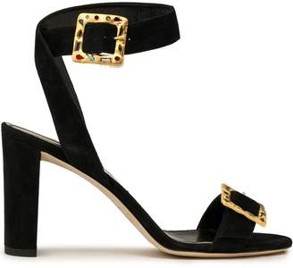 Jimmy Choo Buckled Suede Sandals