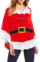 So It Is Christmas Santa Hoodie Poncho