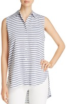 BeachLunchLounge High/Low Stripe Shirt