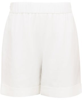 ODYSSEE Benson High-rise Twill Shorts - White