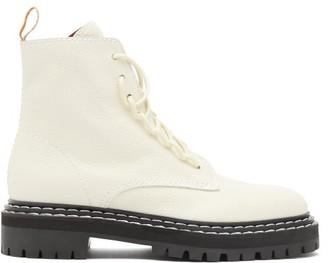 Proenza Schouler Trek-sole Grained-leather Boots - Cream