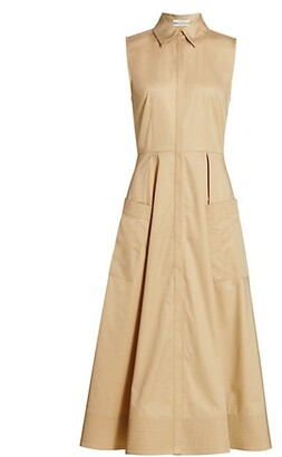 Co Essentials Poplin Midi Dress