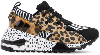 Steve Madden Leopard Print Faux Leather Sneakers
