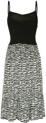 Proenza Schouler Tiger Jacquard Cami Knit Dress