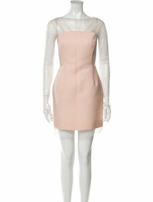 Emilio Pucci Scoop Neck Mini Dress Pink