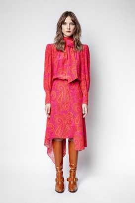 Zadig & Voltaire Rire Paisley Peacock Dress