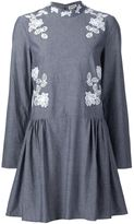 Suno macrame insert chambray dress - women - Cotton - 2