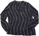 Vanessa Seward Navy Silk Top for Women