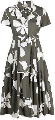 Gentry Portofino Floral-Print Midi Dress