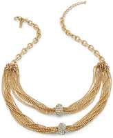 INC International Concepts Two-Row Crystal Cluster Chain Necklace, Created for Macy's