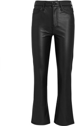 Mother The Insider Ankle Faux Leather Jeans