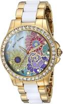 Betsey Johnson Women's Quartz Metal and Alloy Casual Watch, Color:Gold-Toned (Model: BJ00246-15)