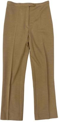 Rodier Beige Wool Trousers for Women Vintage