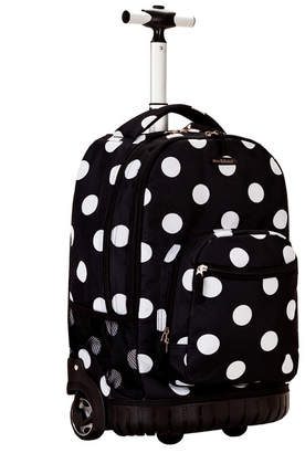 "Rockland Dots 19"" Rolling Backpack"
