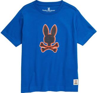 Psycho Bunny Kids' Kendal Pima Cotton Graphic Tee