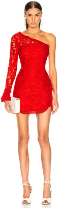 Alexis Tansy Dress in Red Lace | FWRD